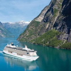 Crystal Serenity at Geiranger Fjord - Norway Crystal Serenity - Crystal Cruises